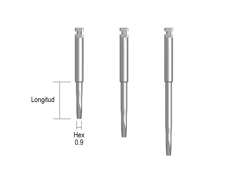 Destornillador Hex 1.2, contra-ángulo