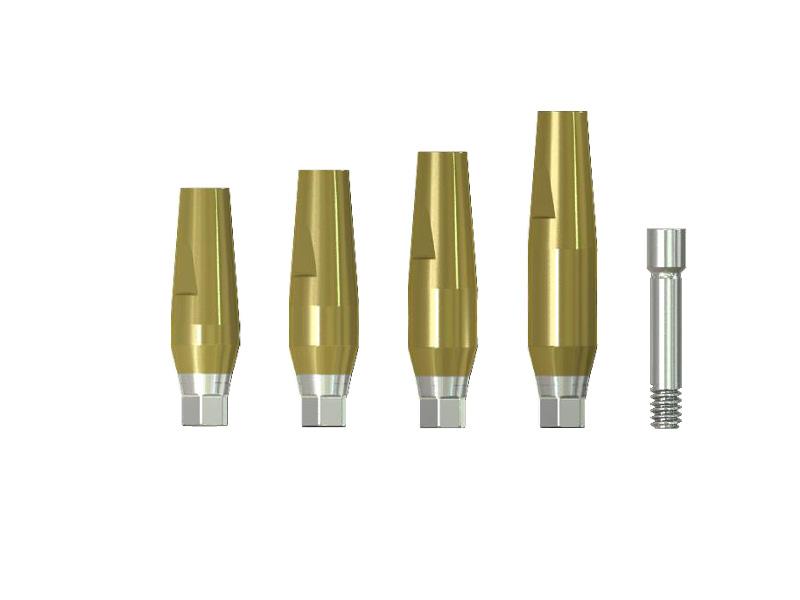 Pilares rectos hex implantes IS-III active S-Narrow
